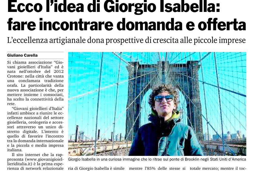 Giovani Gioiellieri d'Italia su Gazzetta del Sud