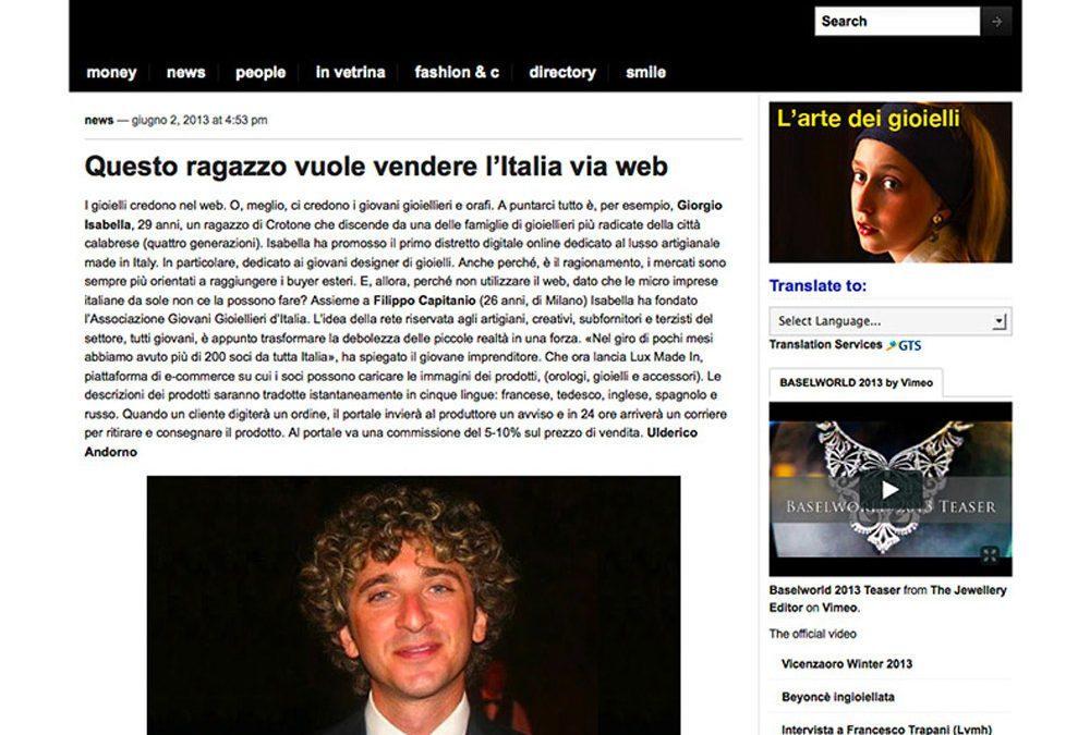 I gioielli made in Italy credono nel web