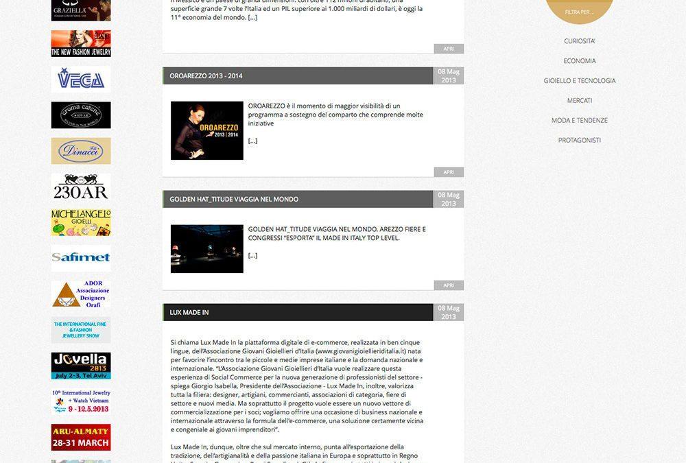 OROAREZZO Magazine – Presentazione dell'Associazione e Lux Made In