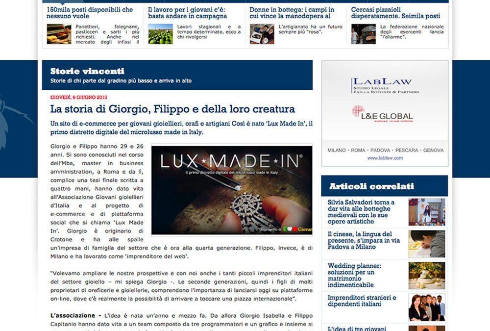 Kong News parla di Giovani Gioiellieri d'Italia e Lux Made In