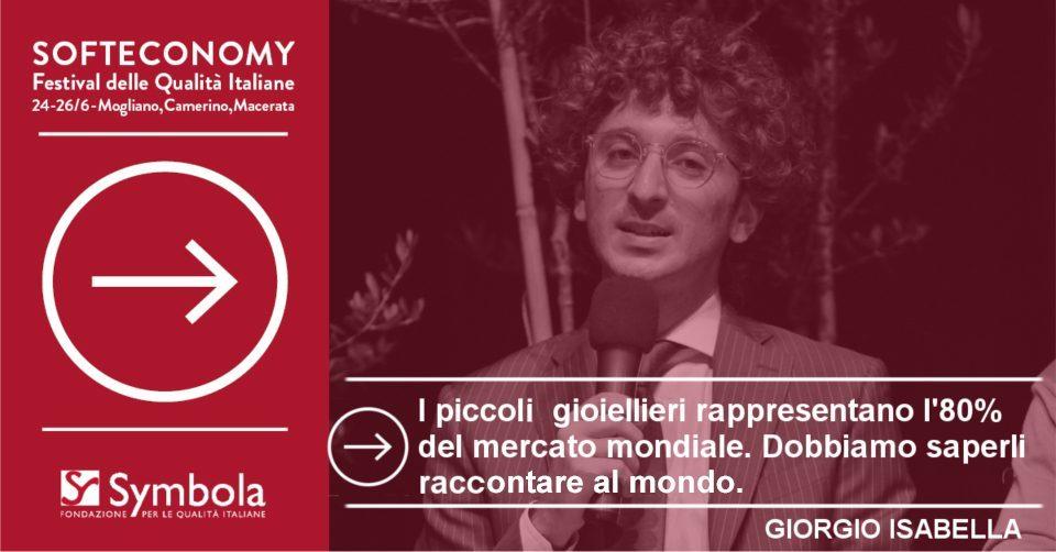Giovani Gioiellieri d'Italia al Festival Soft Economy di Symbola, Fondazione per le Qualità Italiane
